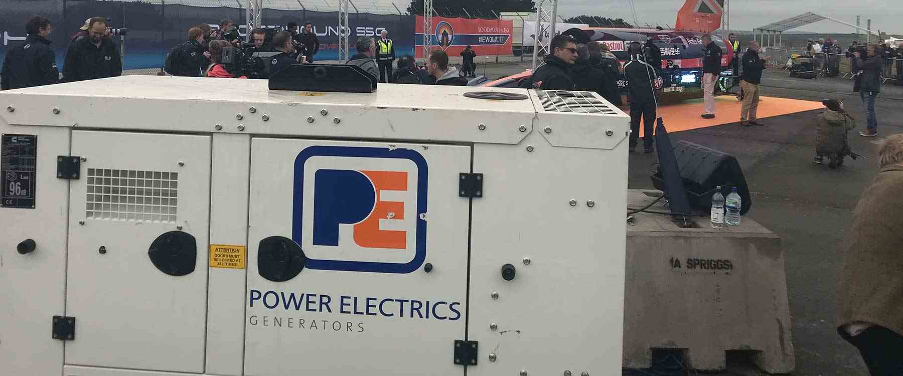 Power Electrics generator in front of the Bloodhound event)