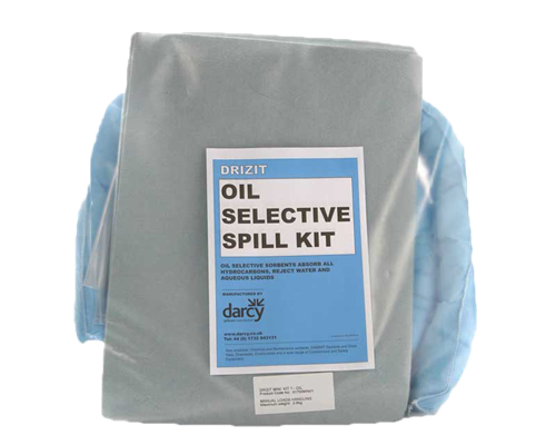 Oil spill care product set